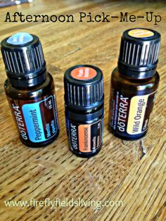 A Natural Afternoon Pick Me Up...Peppermint, Frankincense, and Wild Orange essential oils!
