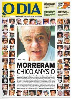Redes sociais mencionaram bastante essa capa de O Dia sobre a morte de Chico Anysio.