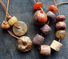 Old stone beads
