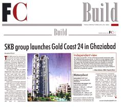 Luxury property on NH-24 #FinancialChronicle a renowned publication covers the launch of new project: #GoldCoast24 by #SKBGroup.  The residential project is going to be a landmark project on NH-24. The project will have all world class luxurious amenities and is being offered at quite affordable rates. #RealEstate #Apartments #Luxury_flats_on_NH24 #Ghaziabad #SKBGroup  Call us – 9268-57-9797 Visit – www.skbdevelopers.com