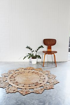 Flower Weave Marigold rug by Armadillo & Co for master bedroom