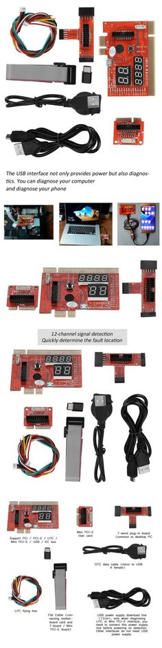 Universal LAPTOP 4-Bit Diagnostic Card miniPCI /& LPT USB Test Tool US SELLER