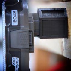 Milwaukee M18 M 18v Battery Adapter Dock Holder New Milwaukee Tools, Milwaukee M12, Power Tool Storage, Polypropylene Plastic