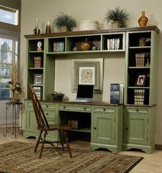 Google Image Result for http://www.coastalfurniture.us/store/images/greenoffice.jpg  Wynmar Desk Unit