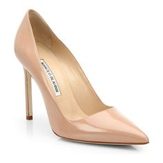 MANOLO BLAHNIK Bb 105 patent leather point-toe pumps found on Nudevotion