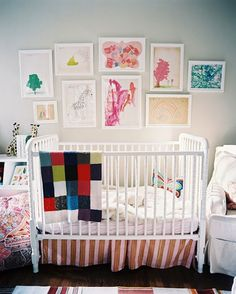 Display your Child's Artwork! Check out these 21 ideas for displaying, storing & using what they create.