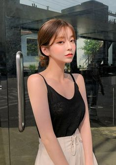 Be adorable, bubbly, sharp and sexy from time to time with CHUU. Shout it from within. I know you want to kiss me. Edgy Outfits, Korean Outfits, Skirt Outfits, Korean Short Hair, Pretty Korean Girls, Little Girl Models, Portrait Poses, Ulzzang Girl, Girl Photography