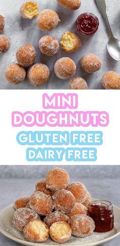 Gluten Free Doughnuts Recipe (dairy free, low FODMAP) - Projects to Try - Healthy Recipes Dairy Free Bread, Dairy Free Snacks, Dairy Free Breakfasts, Gluten Free Sweets, Dairy Free Baking, Dairy Free Recipes Kid Friendly, Free From Recipes, Dairy Free Cakes, Healthy Gluten Free Snacks