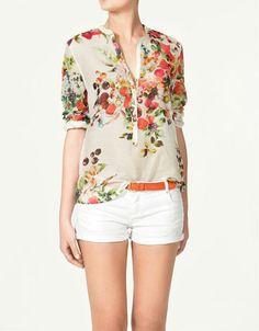 Zara, Printed Blouse $59.90