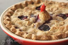Mixed Berry Pie with Whole Wheat Crust @Jen Schall