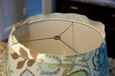 recovering a lamp shade.