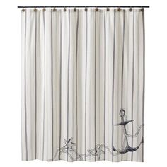 Such a cute coastal shower curtain - no longer available at Target unfortunately...