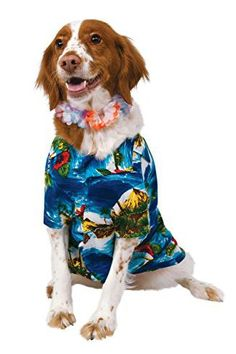 Shop now to get this luau pet dog costume. A great fancy dress option for your next costume party. Most Popular Halloween Costumes, Pet Halloween Costumes, Funny Costumes, Pet Costumes, Dog Halloween, Luau Costume, Costume Ideas, Luau Shirts, Pet Clothes