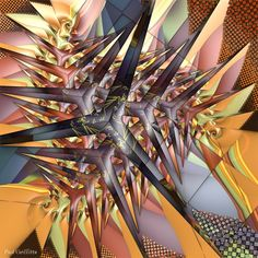 """Formulation"" 3d fractal art Mandelbulb 3d Paul Griffitts http://www.frackxion.com"