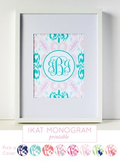 Ikat Printable Monogram