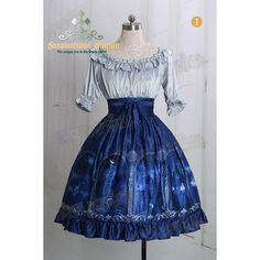 Castle Innocent Dress ❤ liked on Polyvore featuring dresses, lolita and blue dress