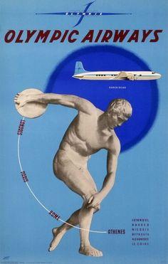 Olympic Airways Super DC 6B -  Istanbul, Rhodes, Nicosie