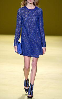 Asymmetrical Front Pleat Macrame Dress by J. Mendel - Moda Operandi