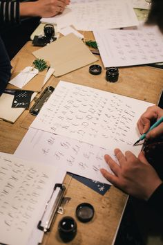 Lamplighter London calligraphy workshop at 26 Grains