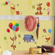 Found it at Wayfair - Room Mates Licensed Designs Pooh and Friends Wall Decalhttp://www.wayfair.com/Room-Mates-Licensed-Designs-Pooh-and-Friends-Wall-Decal-RMK1498SCS-RZM1805.html?refid=SBP