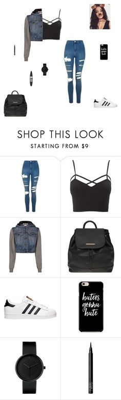 """""""haters gonna hate"""" by synclairel ❤ liked on Polyvore featuring Topshop, Charlotte Russe, Moschino, Dorothy Perkins, Bellissima, adidas, NARS Cosmetics, Maybelline, Summer and cute"""