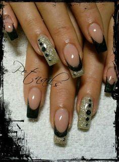 black & pink nail designs - Google Search