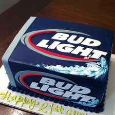Chocolate cake stuffed with Oreo filling I made!! Inspired for a couple in ode to bud light lol