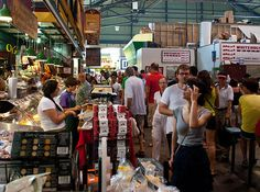 Lawrence Market, Toronto, Canada - Voted best food market in the world by National Geographic. Carousel Bakery, St Lawrence Market, Queen Victoria Market, Bacon Sandwich, World's Best Food, Canadian Bacon, Traveling By Yourself, Around The Worlds, Toronto Canada