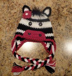 Zebra Hat - No pattern - Inspiration only