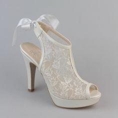 Satin Wedding Shoes for brides