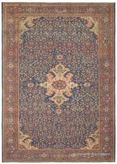 Antique Persian Sultanabad Rug circa 1900 with allover Herati pattern and abrash reserve Antique Rug - Claremont Rug Company Persian Carpet, Persian Rug, Carpet Remnants, Home Depot Carpet, Rug Company, Cheap Rugs, Carpet Runner, Rugs On Carpet, Stair Carpet