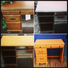 Picked up this desk from a thrift shop and refinished it. Going to make it our concession station for the Missoula store! #retrofixgaming #retrofix #restoration #diy #upcycled