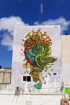 Gonzalo Areúz creates a new mural in Cancun, Mexico for FIAP