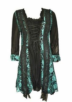 Pretty Angel Goth Victorian Renaissance Vintage Punk Fairy Gypsy Corset Tunic | eBay