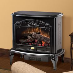 Celeste Freestanding Electric Stove in Black | TDS8515TB | Dimplex