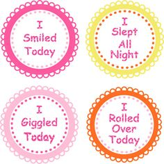 Baby Girl Boy Milestone Stickers...Rolled by LittleLillyBugDesign, $11.00