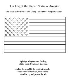 Homeschool bigger hearts for his glory on pinterest for Pledge of allegiance coloring page
