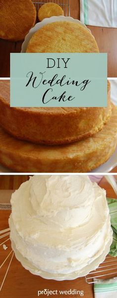 How to make your own wedding cake... I'm getting hungry just looking at it!