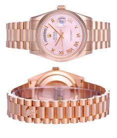Pink Rolex, sensationnelle pour accompagner avec classe toutes vos tenues ! www.leasyluxe.com #amazing #breathtaking #leasyluxe
