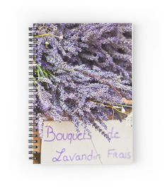 Umm... How it smells! Lavender bunches selling in an outdoor french market • Also buy this artwork on stationery, stickers, phone cases, and more.   The whole collection is here http://www.redbubble.com/people/dvoevnore    #lavender #french #france #provence #notebook #stuff #stationery #flowers