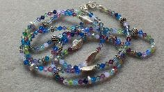 Swarovski beads and sterling long or wrap necklace by Marcia Etheridge