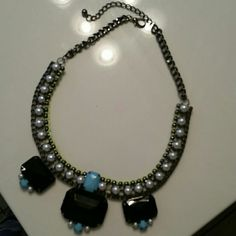 Black and blue necklace Worn once. Charlotte Russe Jewelry Necklaces