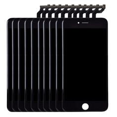 [$1652.00] 10 PCS iPartsBuy 3 in 1 for iPhone 6s Plus (LCD + Frame + Touch Pad) Digitizer Assembly(Black)