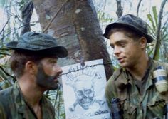 """L Co. 75th Rangers 101st ABN in South Vietnam 1969. Leaving our calling card just prior to extraction... """"Danger Communist Soldiers will be killed here."""""""