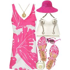 """Pink Summer"" by evita on Polyvore"