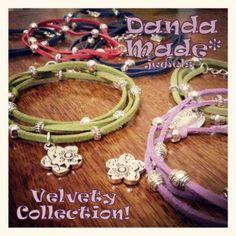 DandaMade wrap bracelets faux suede Bracciali collana alcantara con charms