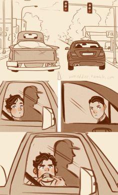 Hahahaha young Bruce Wayne and Clark Kent (artist: vimeddice)