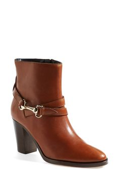 Could wear this chestnut Burberry bootie all season.