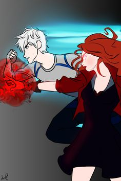 Jack Frost and Merida as Quick Silver and Scarlet Witch. THIS. IS. BEAUTIFUL.