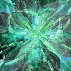 green ice shards